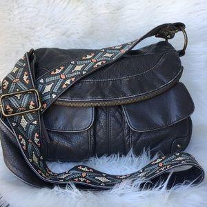 Vintage Guitar Strap Leather crossbody boho bag